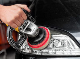 Car Headlight Cleaning